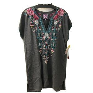 NWT Johnny Was JWLA Embroidered Peta Easy Tunic Dr